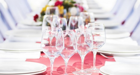 mesa de catering de pulpo